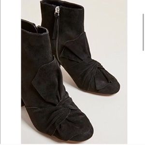Rebecca Minkoff Suede Black Chunky Booties 9.5